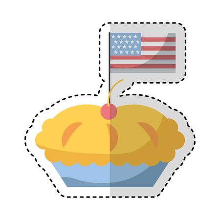 Köstliche Torte isoliert Symbol Vektor-Illustration Design Standard-Bild - 75771052