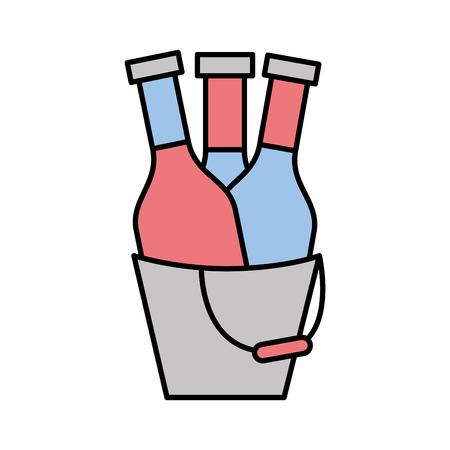 champagne bottle drink icon vector illustration design Illustration