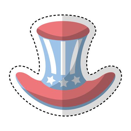 usa hat isolated icon vector illustration design Illustration