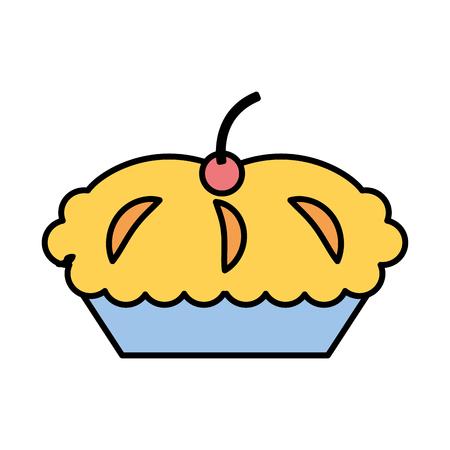 Köstliche Torte isoliert Symbol Vektor-Illustration Design Standard-Bild - 75771128