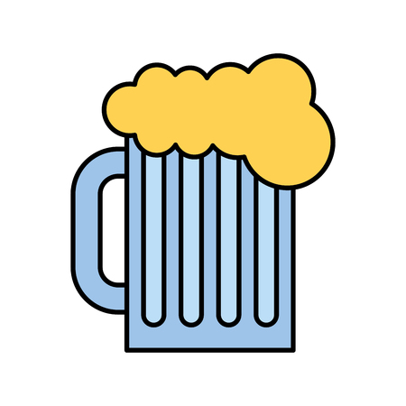 ale: beer in jar isolated icon vector illustration design