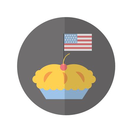 Köstliche Torte isoliert Symbol Vektor-Illustration Design Standard-Bild - 75771174