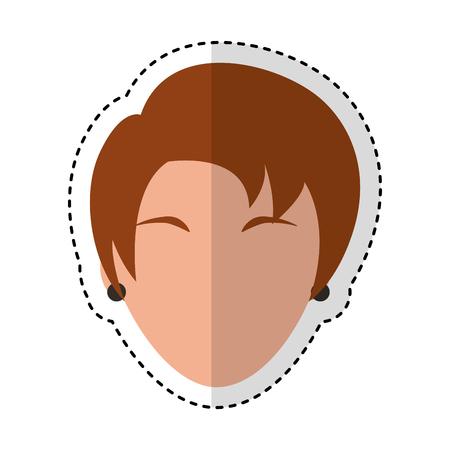 head woman character icon vector illustration design