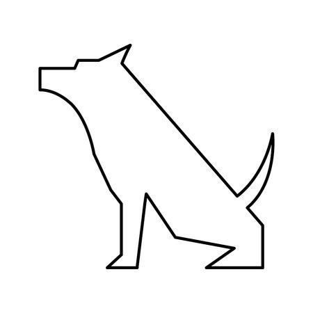 pet dog mascot silhouette vector illustration design Illustration