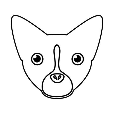 pet dog head silhouette vector illustration design