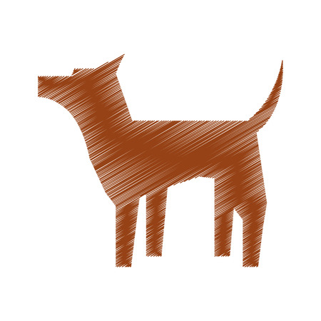 breeds: pet dog mascot silhouette vector illustration design Illustration