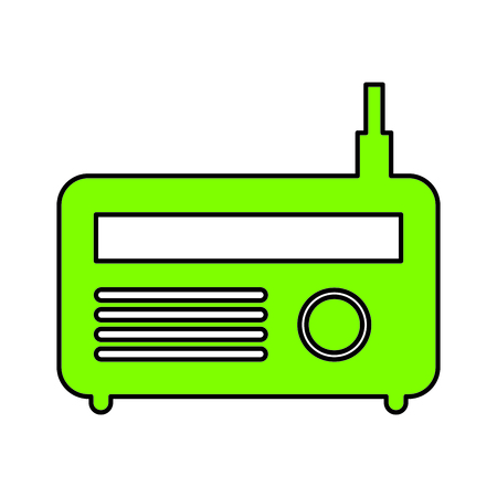 old radio isolated icon vector illustration design Illustration