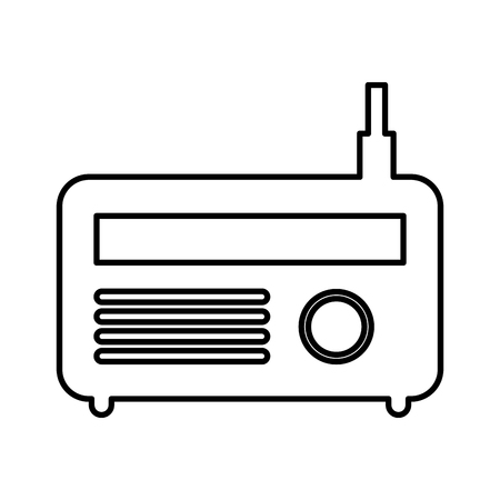 old radio isolated icon vector illustration design Reklamní fotografie - 75792079