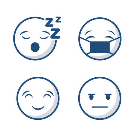 cartoon faces icon set over white background. vector illustration Imagens - 75826106