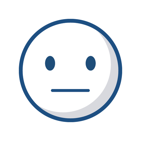 disappointment cartoon face icon over white background. vector illustration Ilustração