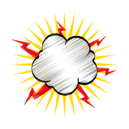comic explosion isolated icon illustration design