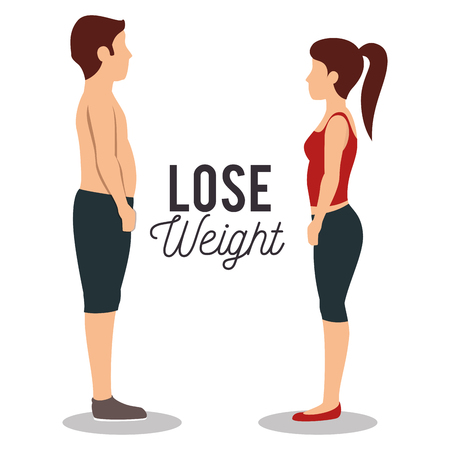 Lose weight concept icons vector illustration design Illustration