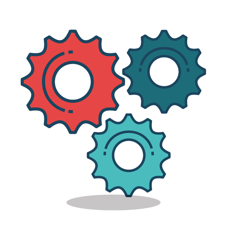 Gear settings setup icon vector illustration design Reklamní fotografie - 75989550