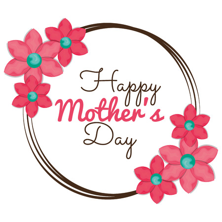 happy mothers day card vector illustration design