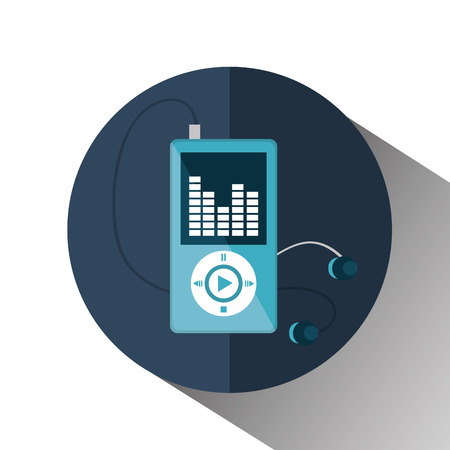mp3 music player isolated icon vector illustration design