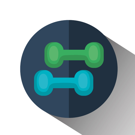 weight lifting equipment icon vector illustration design