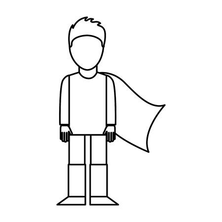 super hero with layer vector illustration design
