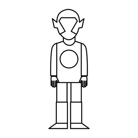 super eroe con maschera carattere illustrazione vettoriale disegno