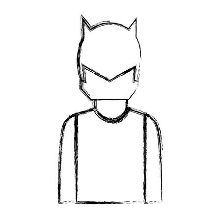 ranger: super hero with mask character vector illustration design Illustration