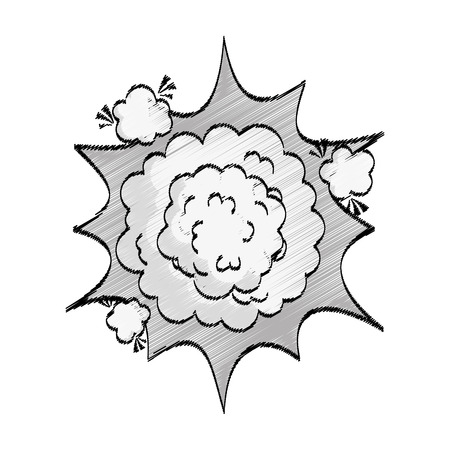 comic explosion isolated icon vector illustration design