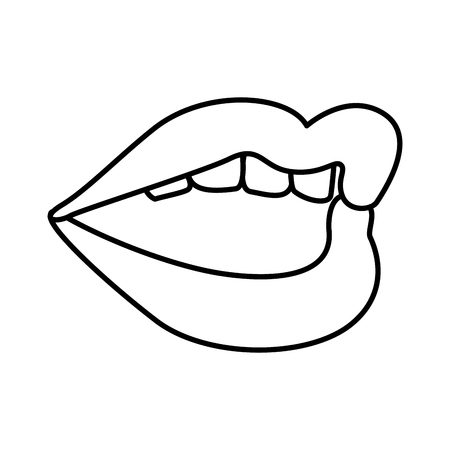 girl mouth open: mouth pop art style vector illustration design