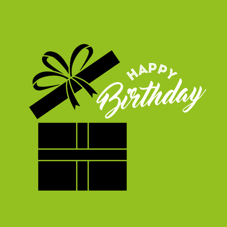 happy birthday card with gifts vector illustration design Illustration
