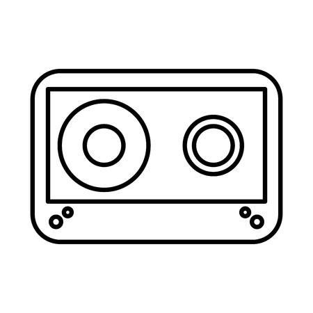 cassette old isolated icon vector illustration design Illustration