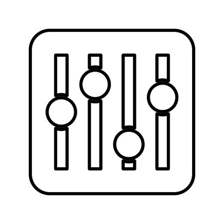 Audio control panel icoon vector illustratie ontwerp