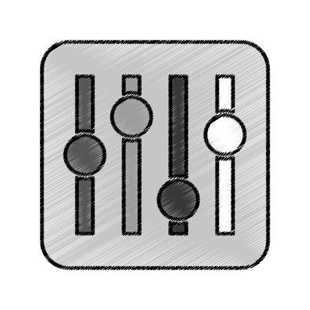 audio control panel icon vector illustration design