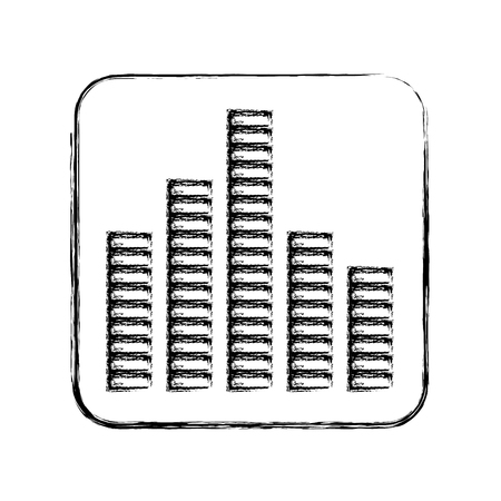 soundwave: equalizer sound isolated icon vector illustration design