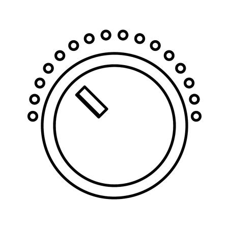 ボリューム コントロールのアイコン ベクトル イラスト デザインを分離しました。