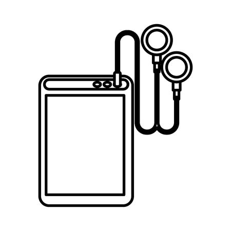 media gadget: player mp3 isolated icon vector illustration design Illustration