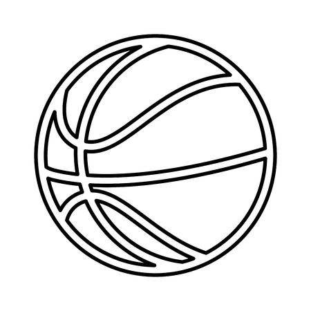 basketball balloon isolated icon vector illustration design Ilustração