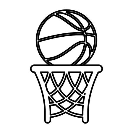 basket basketball isolated icon vector illustration design
