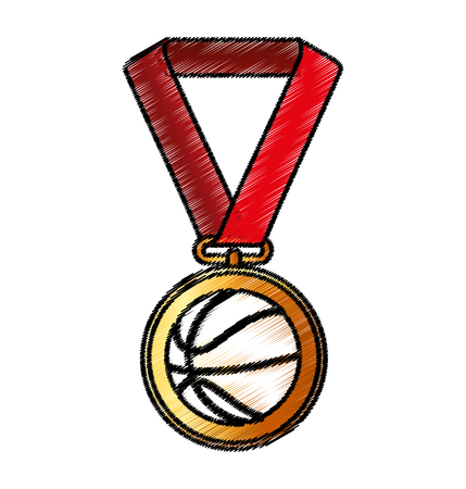 place to shine: basketball medal isolated icon vector illustration design
