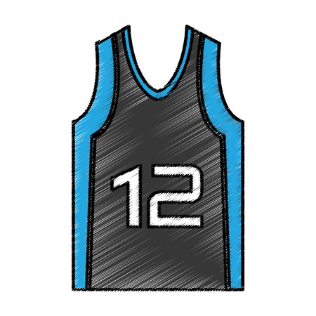 jersey: basketball shirt uniform icon vector illustration design
