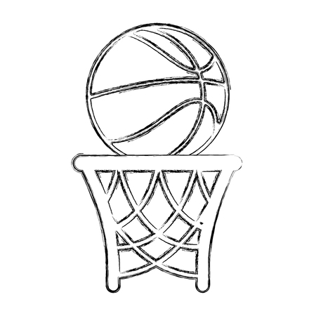 basket basketball isolated icon vector illustration design Vektorové ilustrace