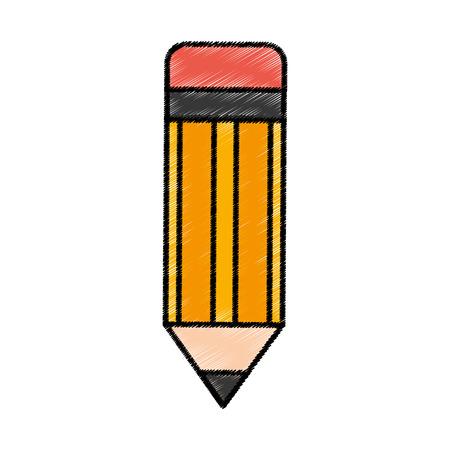 lápiz escuela icónico ilustración vectorial de diseño
