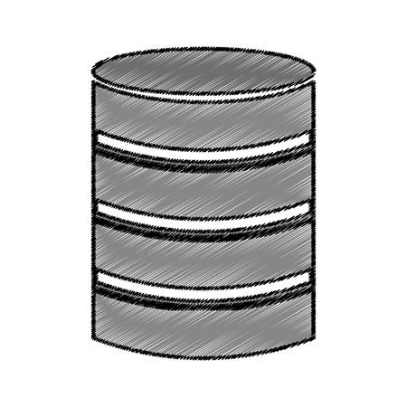 data disk storage icon vector illustration design