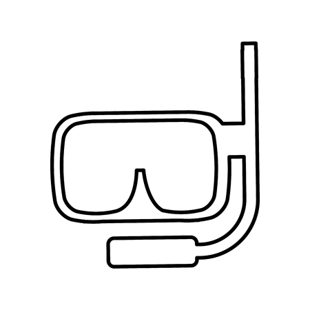 snorkel diving isolated icon vector illustration design