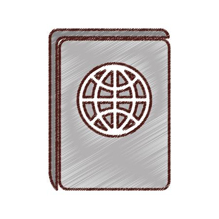 emigration: passport travel isolated icon vector illustration design Illustration