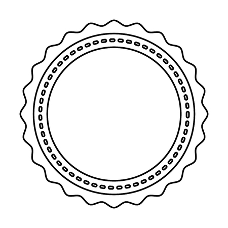 circle seal stamp lace vector illustration design Stock Vector - 75976723