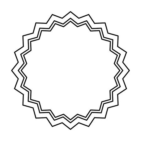 circle seal stamp lace vector illustration design Stock Vector - 75976724