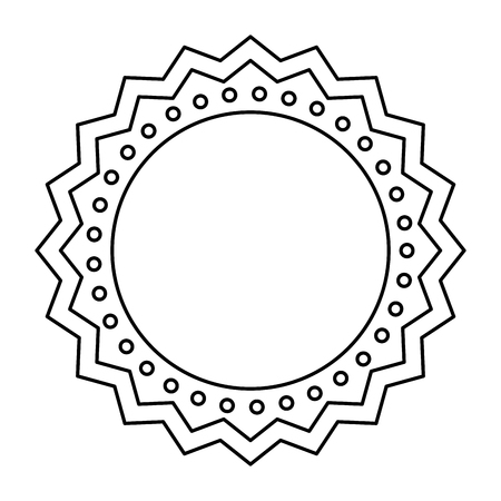 circle seal stamp lace vector illustration design Stock Vector - 75976732
