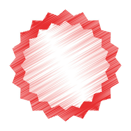 approbation: circle seal stamp lace vector illustration design