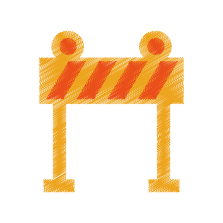 dangerous work: light barrier construction icon vector illustration design Illustration