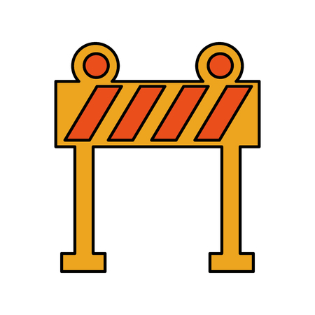 light barrier construction icon vector illustration design Illustration