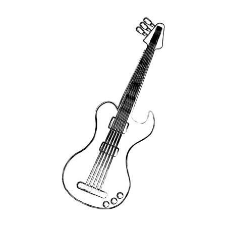 guitarra eléctrica aislada icono de ilustración vectorial de diseño