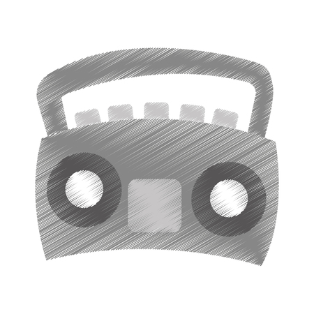 radio stereo isolated icon vector illustration design Ilustrace