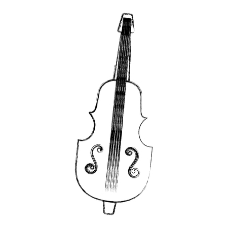 チェロ楽器アイコン ベクトル イラスト デザインを分離しました。  イラスト・ベクター素材